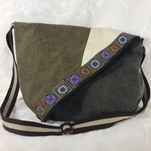 CROSS BODY light weight, fabric handbag